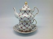Victorian Tea Set Rose Tea For One