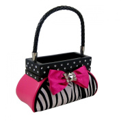 Zebra Jewellery Box Handbag, Fuchsia