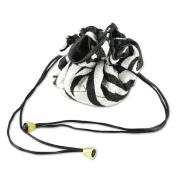 Zebra Cinch Jewellery Drawstring Pouch Large