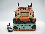 Treasure Boxes Ellis Island Building Hinge Box