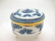 Victorian Jewellery Box Light Blue Round Jewellery Box