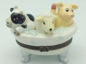 Children's Jewellery Boxes Cow, Sheep, Pig Bathtub