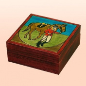 Equestrian Girl on a Horse Polish Jewellery Keepsake Box