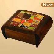 Modern Art Secret Jewellery Keepsake Polish Wood Box