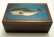 Sperm Whale and Ocean Decorated Polish Jewellery Keepsake Box