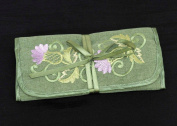 Jewellery Roll in a Green Balmoral Thistle Design
