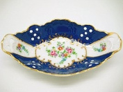 Vintage Victorian Royal Blue Dish Jewellery Box