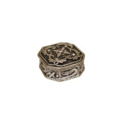 Octagon with 5 Crystals Pewter Jewellery Box