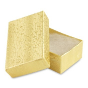 100 pcs Gold Cotton Filled Jewellery Gift Boxes 2x1
