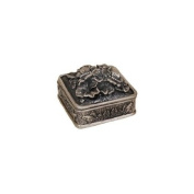 Flowers with Square Pewter Jewellery Box