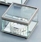 Square Hinged Jewellery Box Glass