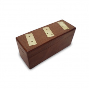 Wooden Jewellery Box with Brass Pieces Engraved on Top