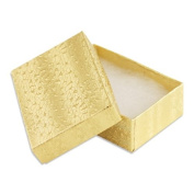 100 pcs Gold Cotton Filled Jewellery Gift Boxes 3x2