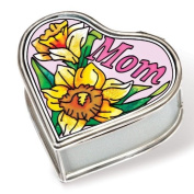 Amia 41129 Mom Petite Jewellery Box, Heart Shape, 2-1/2 by 3.2cm by 6.4cm