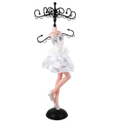 Sequined Rose Cocktail Dress Jewellery Stand, 34cm