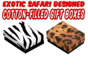 Jewellery Gift Boxes, 5.7cm X 8.3cm , Leopard Design, 100 Pk