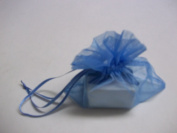 """Emco, Promise Your Love Jewellery Box, 4.8cm x 4.8cm x 4.4cm , For Ring, With Blue Ribbon and Bow, With Light Blue Chiffon (See Through) Bag With Tie, """"Promise Your Love"""" Card Included"""