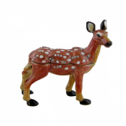 Spotted Chital Deer Trinket Box, Bejewelled