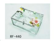 Welforth Bejewelled Owl Duo Glass Jewellery Box