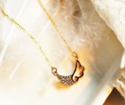 Lingstar(TM) Sweet Angel Wings Of Love Diamante Necklace