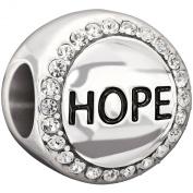 Authentic Chamilia Hope - Crystal. Charm Bead 2025-0992