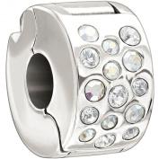 Authentic Chamilia Glimmer Lock - Iridescent. Charm Bead 2025-0984