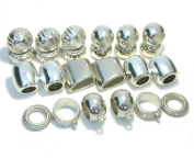 Acrylic Scarf Bails Rings 24pc Pendant Charm Tubes Accessories Receive In 4 Days