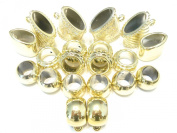 Fashion Jewellery 20pcs Wholesale Scarf Jewellery Gold Plated Bails Scarf Rings Acrylic Pendant Accessory