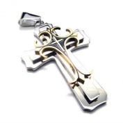 U2U High Quality Stainless Steel Jewellery Pendant -316l Cross Necklace Pendant -Gold & silver