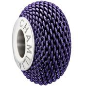 Authentic Chamilia Urban Links - Purple Charm Bead 2010-3077