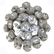 NARCISSUS Antique Silver Tone Crystal Scarf Clip