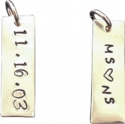 Hand Stamped Jewellery - SINGLE TAG - One Sterling Silver TAG - Personalised Jewellery -