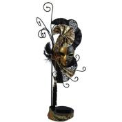 Mardi Gras Mask Earrings & Ring Holder Brown 43cm H