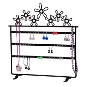 Mele & Co Fora Meta Daisies Jeery Stand,31cm by 33cm , Black