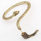HotEnergy Fashion New Antiqued brass Temptation Snake Twine Ear Cuff Wrap Earring