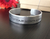 What's is love... - Message of love Hand Stamped Custom Cuff Bracelet - Personalised Bangle