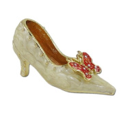 Butterfly Shoe Bejewelled Ring Holder with Ring Insert
