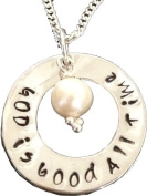 God is good ALL TIME Sterling Silver necklace -Religius gift