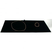 Black Velvet Jewellery Chain Display Pad Showcase Tray Insert 36cm