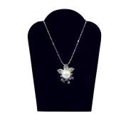 4 Black Velvet Padded Necklace Pendant Display Easels 9.5cm W x 13cm H