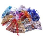 BSI - 10 Pcs Useful Organza Drawstring Pouches Gift Bags Assorted Colours 10cm x 13cm ~ Jewellery Pouch Bags Display