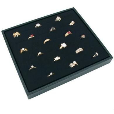 Black Ring Jewellery Display Case Box Large Tray Showcase
