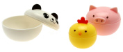 Kotobuki Mini Condiment Containers for Bento Box, Panda, Piggy and Chick