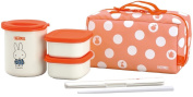 THERMOS heat insulation lunch box Miffy about 0.6 Go Red DBQ-251B R