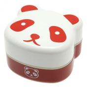 Kotobuki 2-Tiered Bento Box, Panda Face, Red