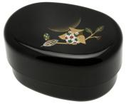 Kotobuki 2-Tiered Bento Box, Gold Owl/Moon