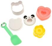 Kotobuki Panda and Heart Rice Mould Set for Bento Box