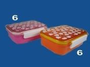 Lunch Box, Heart, 2 Colour Assort, Pink