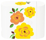 Masakazu [case with the three-stage lunch box] isso ecco BENTO scalloped Yellow Rose