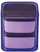 Masakazu . lunch box unit BENTO cube clear purple two-stage band with